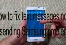 How to fix text messages not sending Samsung