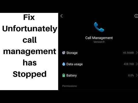 How to fix unfortunately call management has stopped